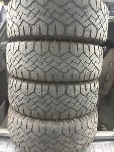 4-265/70R17 LT Good Year Wrangler winter tires