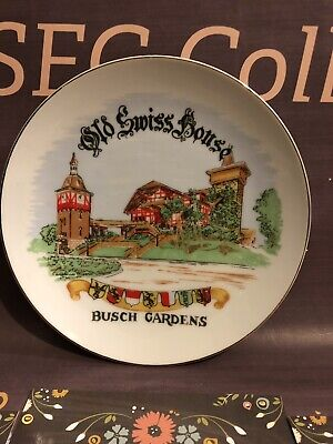 Busch Gardens Tampa, FL Old Swiss House Souvenir Plate, House of Moore (Old Swiss House)