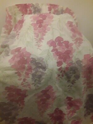 A Pair of Handmade Laura Ashley Marissa Lined Cottage Curtains Drapes