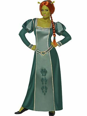Fiona Ladies Fancy Dress Costume Outfit Adult Licensed Shrek Medieval Princess - Fiona Outfit