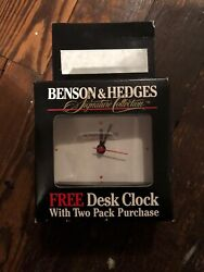 Collectible Benson & Hedges Signature Collection Desk Clock 4 1/2 inches NEW