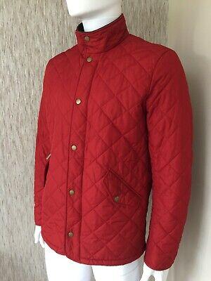 Barbour rouge foncé chelsea sportsquilt veste taille s