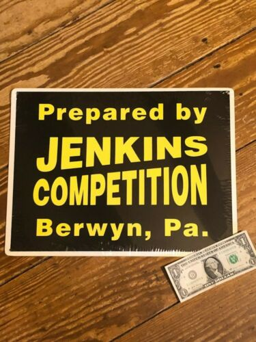 "BILL""GRUMPY""JENKINS COMPETITION BLACK METAL GARAGE SIGN"