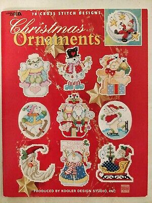 Christmas Ornaments 78 Cross Stitch Designs Leisure Arts Pattern Lot88