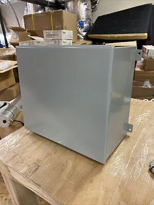 New Hammond 1414pho8 Panel Enclosure Junction Box16 X 14 X 8 - Steelgray