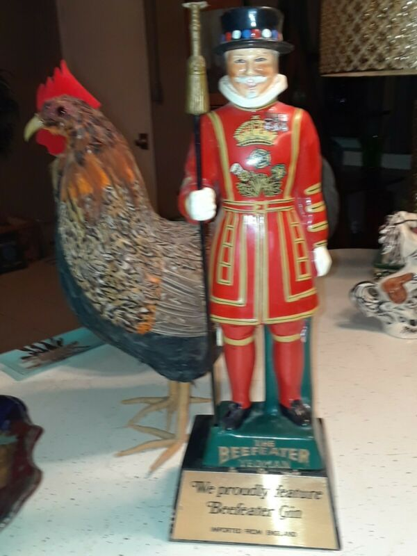Early Beefeater Gin Hand Painted Back Bar Display Statue