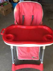 High Chair - RED Luxury Cusioned Kellyville The Hills District Preview