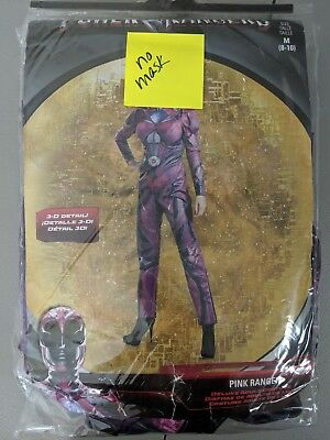 Power Rangers Saban Pink Ranger Full Suit Women M Med Halloween Costume No Mask