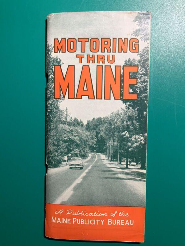 Motoring Thru Maine Publicity Bureau 19th Edition Vintage Book