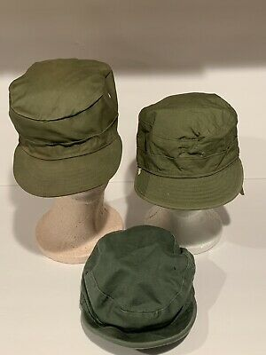 1950s Hats: Pillbox, Fascinator, Wedding, Sun Hats Vintage 1950'S US Military Field Cap Army Hats Lot of 3  $60.00 AT vintagedancer.com