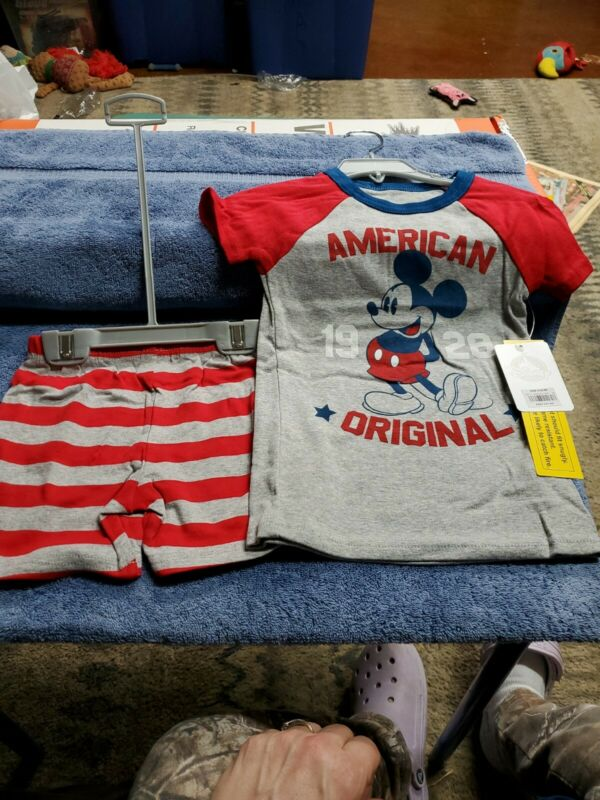Nwt Disney Store Shirt And Shorts Outfit Size 5