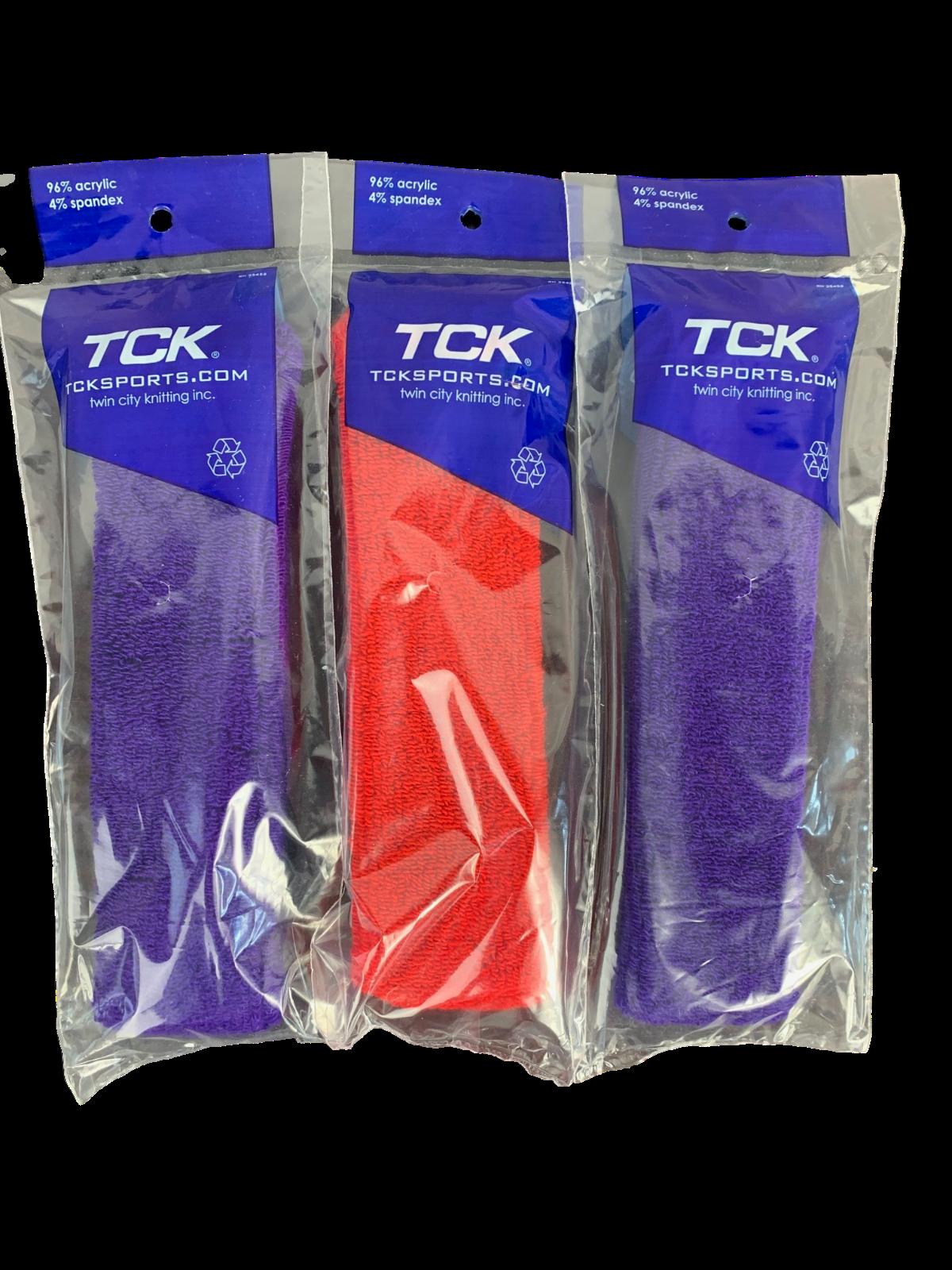 TCK Sports Headband Sweatband 3 Pack New In Package 2 Purple