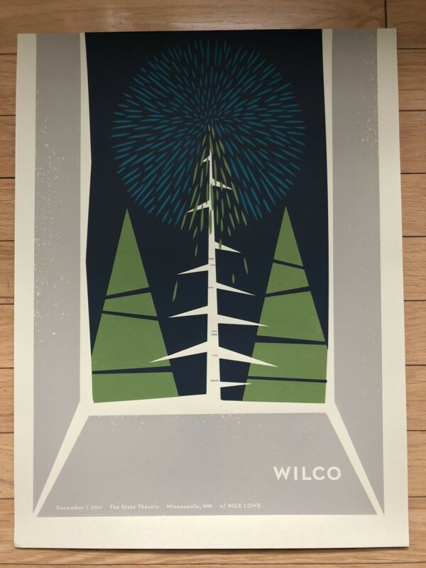 Official Wilco Screenprinted Concert Poster