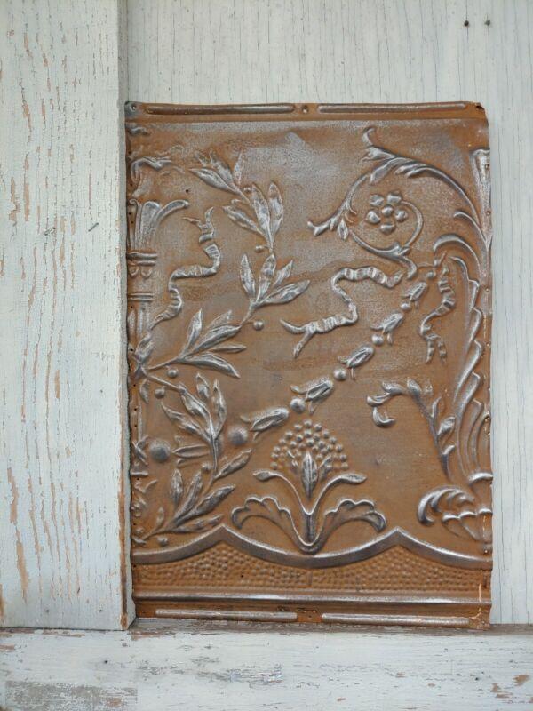 "Ceiling Tin Tile Antique Metal Vintage Home Decor Craft #12one piece 12.5""×18.5"""