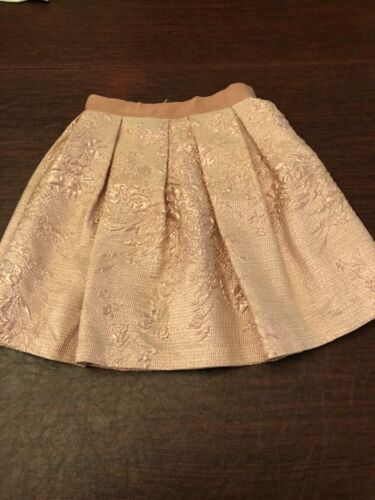 Lanvin Petite Girls Skirt Size 10 Color Pink Sparkle with Flower Design
