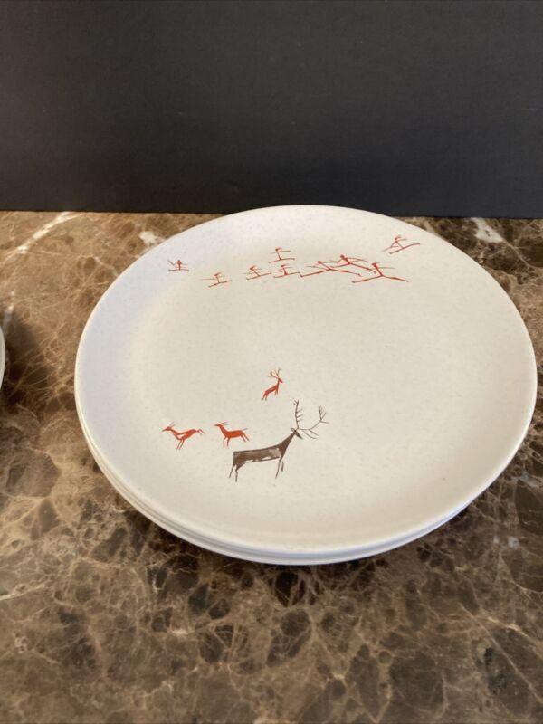 Free Form By Salem Primitive V. Schreckengost Dinner Plates 5