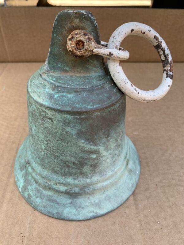 """Vintage Bronze Ship's Bell 6"""" Round"""