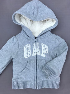 Baby gap thick faux fur lined hoodie. Size 18-24 months.