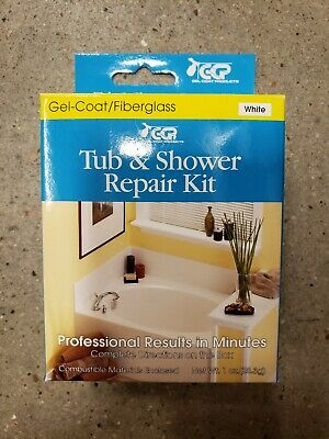 Tub and Shower Repair Kit Works with Gel-Coat Fiberglass Tubs Showers White (Gel Coated Fiberglass)
