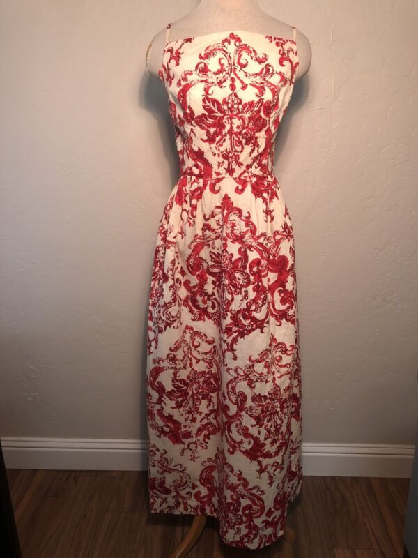 MADEMOISELLE RICCI Vintage 60s Mod STUNNING floral gown HOSTESS maxi DRESS XS