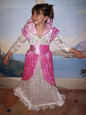 Rosa Königin Kostüme (Prinzessin Ballkleid Samt Edel 110-116-122-128-134-140 Kostüm Königin Rosa Kleid)