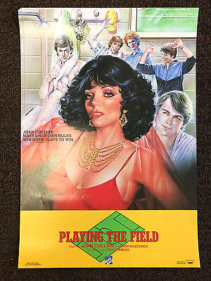"JOAN COLLINS - RARE 19"" x 13"" Original US PLAYING THE FIELD Video Poster 1985"