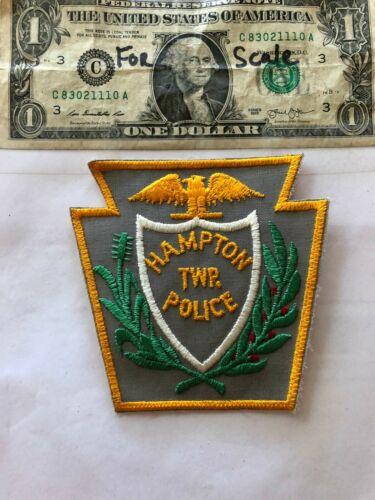 Hampton Pennsylvania Police Patch (TWP) un-sewn in mint shape