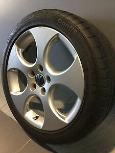 """VW GOLF GTI 17"""" GENUINE ALLOY WHEELS AND TYRES Carramar Fairfield Area Preview"""
