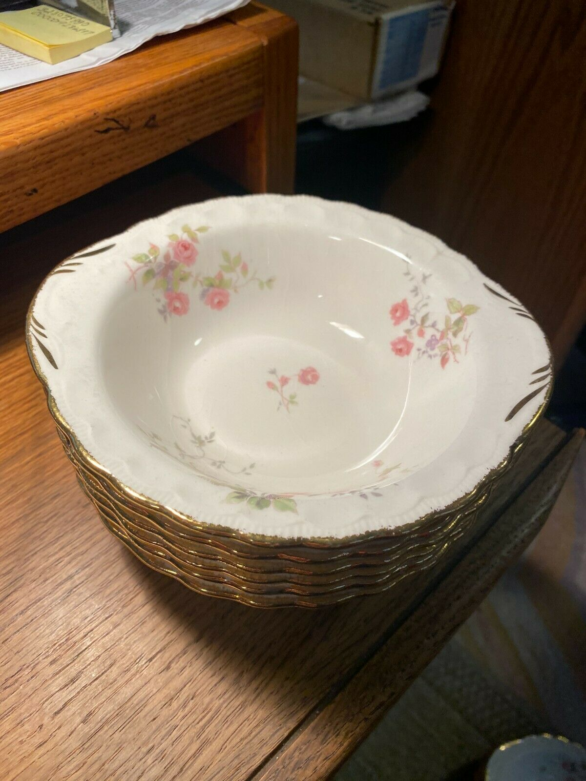 Tralee By POPE GOSSER Pattern Code POPTRA 6 - Lugged Cereal Bowls  - $33.50