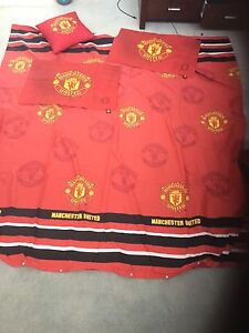 Manchester United - double sided queen quilt cover set Lilli Pilli Sutherland Area Preview