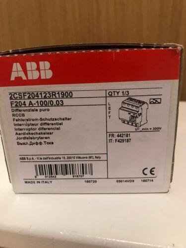 ABB F204 A-100/0,03-L