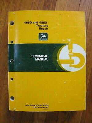 John Deere 4650 4850 Tractor Technical Repair Manual Tm-1354