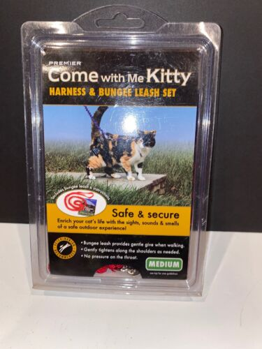 PetSafe COME WITH ME KITTY Cat Harness and Bungee Leash Blac