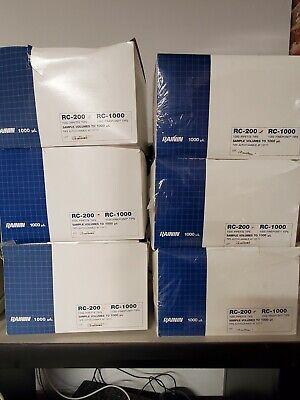 Rainin Rc-200 1000ul Pipette Tips Nonsterile 6 Cases Of 1000