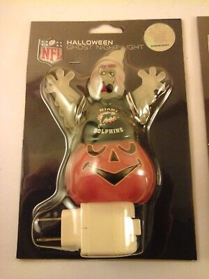 NEW Miami Dolphins NFL Officially Licensed HALLOWEEN Scary Ghost NIGHT LIGHT