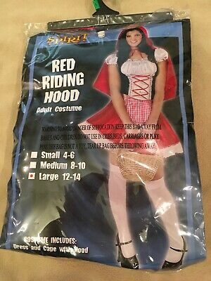 Red Riding Hood Capes (Red Riding Hood Costume Large Adults Women Dress)