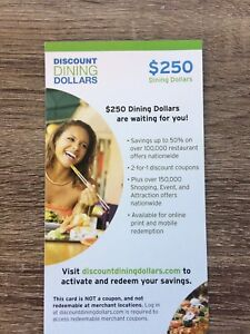 Restaurant Coupon/Gift Card