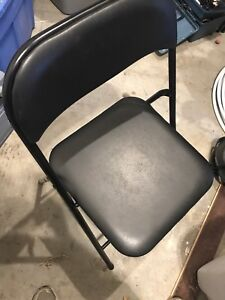 Lot of 20 Black folding chairs