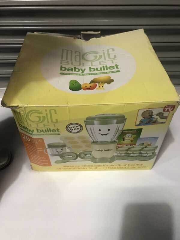 Magic Baby Bullet Complete Food Blender Processor + What To Eat Recipe Book!