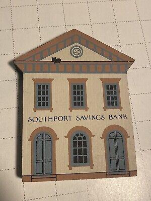 Cats Meow Village Shelf Sitter - Southport Savings Bank - 1987 Series V - Decor