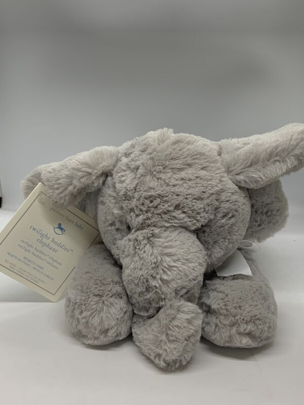 Pottery Barn Baby Twilight Buddies Elephant Plush Projects Stars NEW with tags