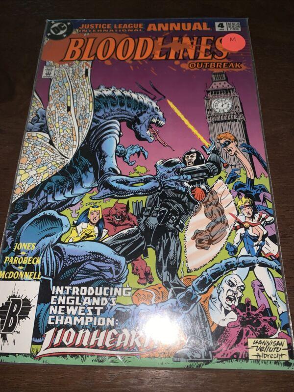 BLOODLINES OUTBREAK ANNUAL #4 DC COMICS 1993 (M)