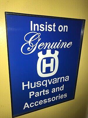 Husqvarna Motorcycle Gen, Parts Service Garage Advertising Man Cave Sign