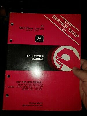 John Deere 60 Skid-steer Loader Operators Manual Om-ga11574 Issue G0