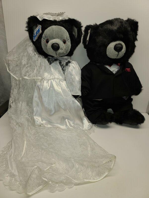 """1997 Blue Bell Wedding Vow Bears 19"""" tall"""