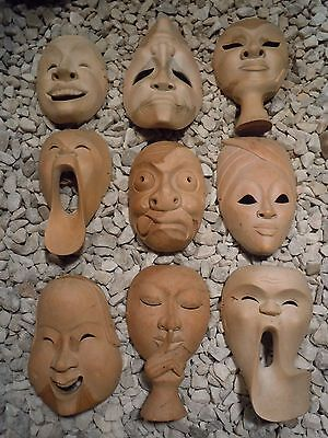 Vintage Hand Crafted Wooden South East Asian Burmese Masks