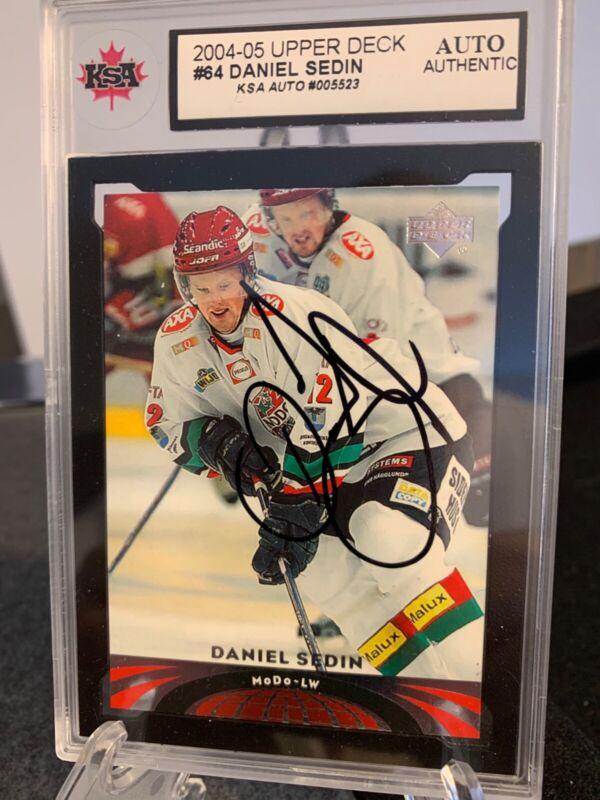 2004-05 Upper Deck All World Edition # 64 NM//M Daniel Sedin Hockey Card
