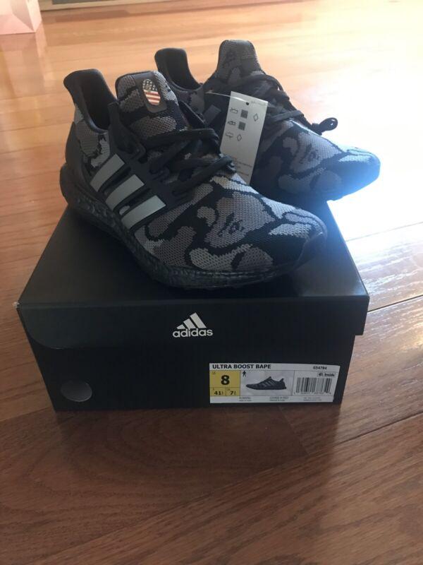 quality design b6fc7 17e53 Bape X Adidas Ultra Boost Camo Black