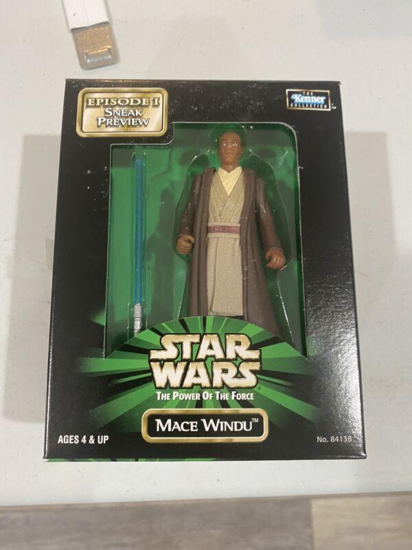Vintage Star Wars POTF Mace Windu Episode 1 Sneak Preview Figure Kenner 1998