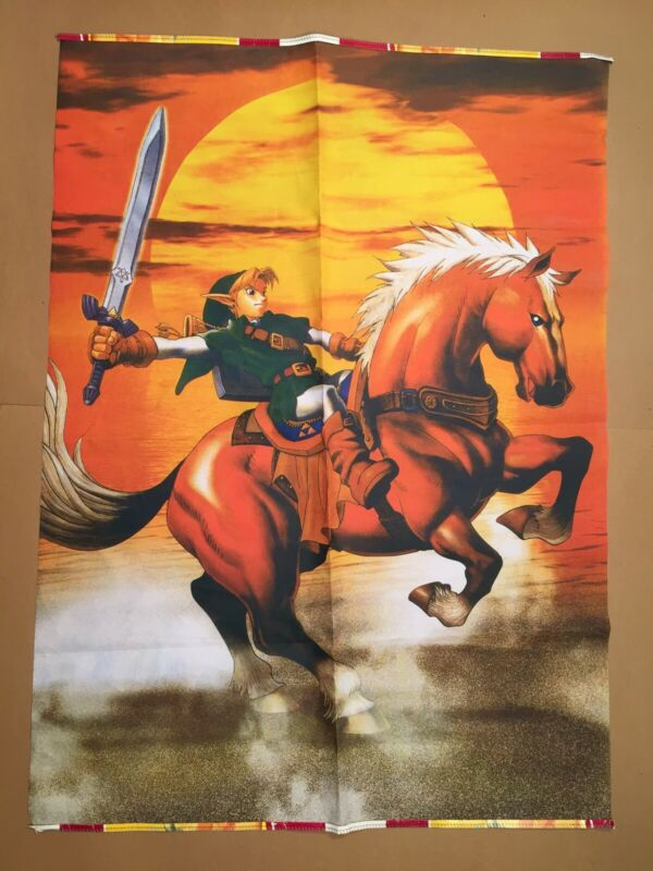 Legend of Zelda Ocarina of Time Link & Epona Wall Scroll Tapestry Poster